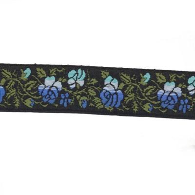 Band rozen 0000 zwart blauw 24 mm per meter