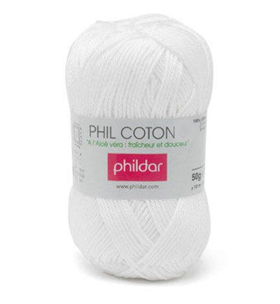 Phildar Phil Coton 4 Blanc 0010 - wit