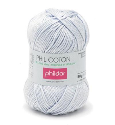 Phildar Phil Coton 4 Ciel 0003 - blauw licht