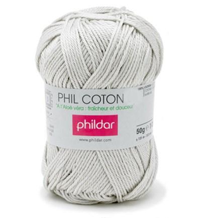 Phildar Phil Coton 4 Perle 0004 - grijs licht levertermijn begin okt