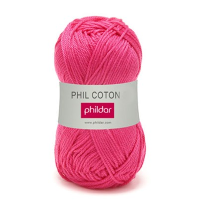 Phildar Phil Coton 4 Oeillet 0034 - rose helder