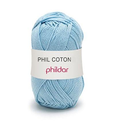 Phildar Phil Coton 4 Azur 0075 - blauw licht