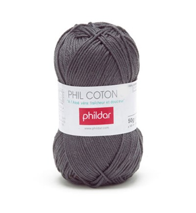 Phildar Phil Coton 4 Minerai 0048 - grijs donker