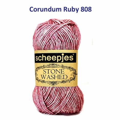 Scheepjes Stone Washed 808 Corundum Ruby