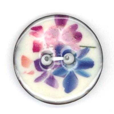knoop geschilderde bloem 23 mm