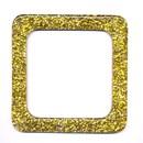 Tasbeugel 120 mm vierkant - goud glitter (2 stuks) (op=op)