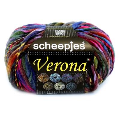 Scheepjes Verona 5 blauw rood geel
