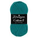 Scheepjes Cotton 8 724 donker aqua blauw