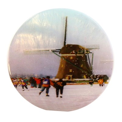 knoop 20 mm winter in Holland molen schaatsen