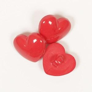 Knoop 16 mm hart rood - 553