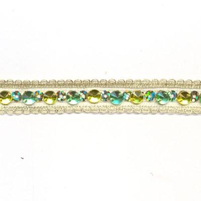Band 10 mm strass geel groen per 50 cm