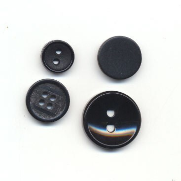 Knoop 36 mm zwart met vierkant relief