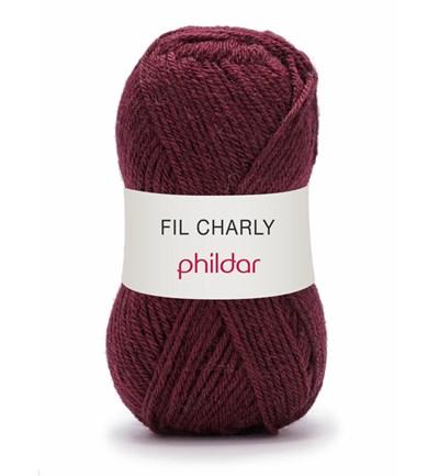 Phildar Charly Bourgogne 0024 - 1158 - rood donker