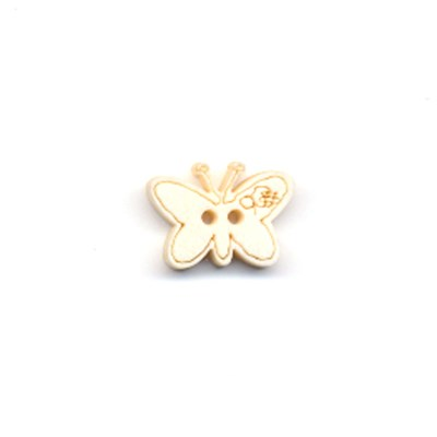 knoop vlinder 18 a 13 mm - licht hout