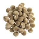 Pompon 13 mm zand (ca 80 stuks)
