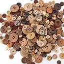 Knoop 12 mm hout gebrand