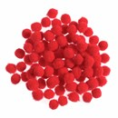 Pompon 13 mm rood (ca 100 stuks)
