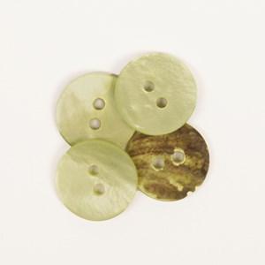 Knoop 15 mm rond groen - 620