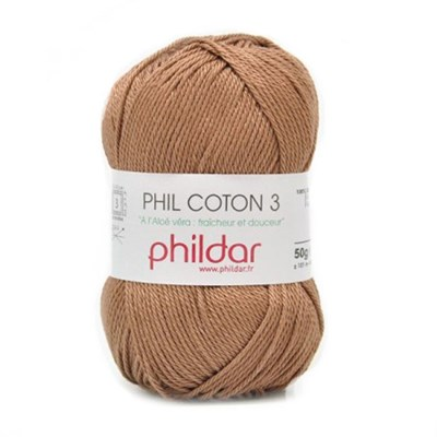 Phildar Phil coton 3 Cappucino 1068 - 80