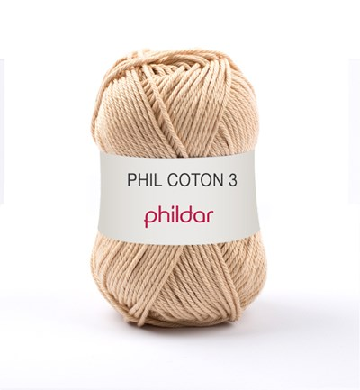 Phildar Phil coton 3 Seigle 1192 - 88