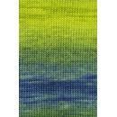 Lang Yarns Merino plus color 926.0044 lime blauw