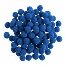 Pompon 7 mm blauw (ca 100 stuks)