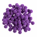 Pompon 7 mm paars (ca 100 stuks)