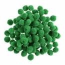 Pompon 6 mm groen (ca 100 stuks)