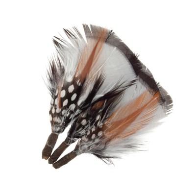 Veer 8 cm ca - zwart wit bruin 3 stuks