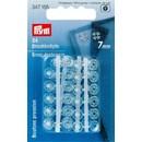 Drukknoop 7 mm transparant (24 stuks)