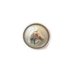Knoop 24 mm paard - zilver