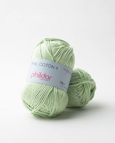 Phildar Phil Coton 4 Anisade 0086 - groen mint