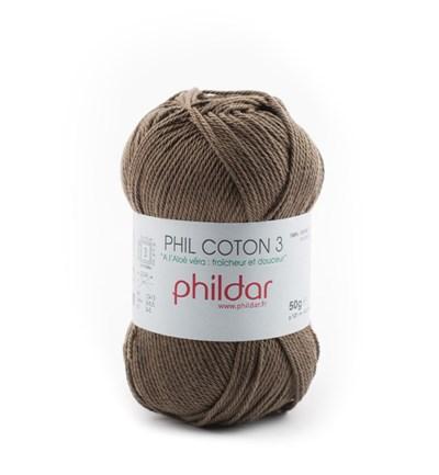 Phildar Phil coton 3 Kaki 89 op=op