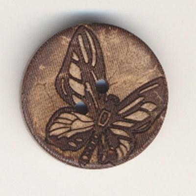 Knoop 45 mm - 5647/70 kokos vlinder
