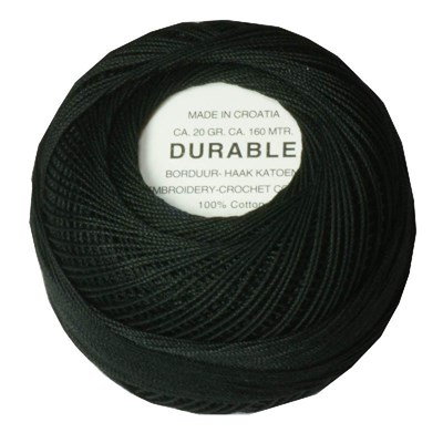 Durable borduur en haakkatoen 1001 zwart op=op