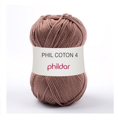 Phildar Phil Coton 4 Praline 0079 - bruin licht op=op