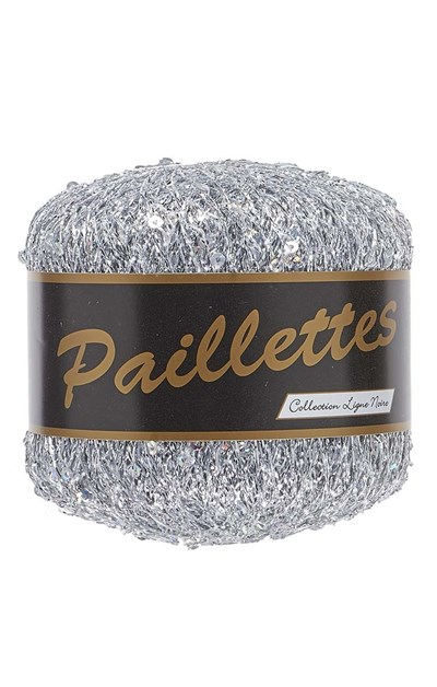 Lammy Yarns Paillettes 001 zilver