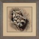 Borduurpakket Kit two raccoon cubs