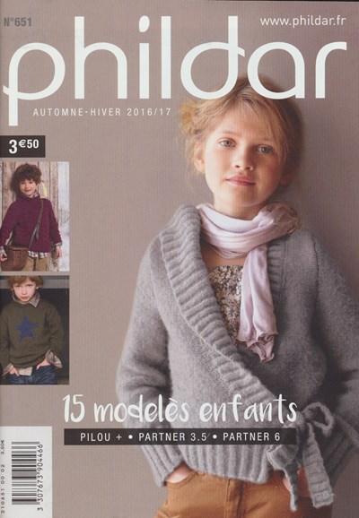 Phildar nr 651 herfst en winter 2016-2017 collectie 2 t/m 10 jaar (op=op)