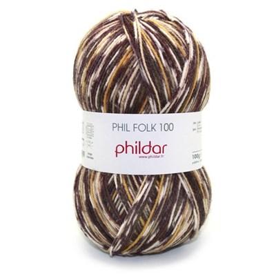 Phildar Phil folk 100 - 1004 Moka op=op