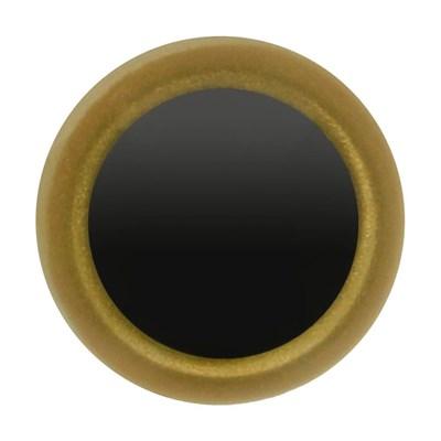 Ogen 10 mm goud met zwarte pupil 5 paar
