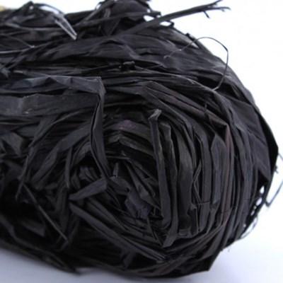 Raffia zwart 50 gram
