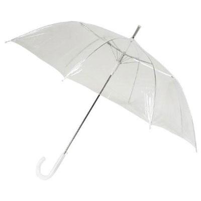 Paraplu transparant met haak handvat