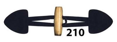 Knoop 40 mm houtje touwtje licht hout - 210 nacht blauw