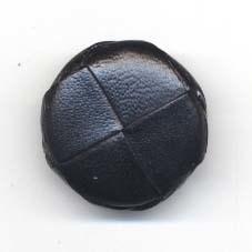 Knoop 26 mm nepleer zwart