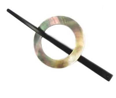 Sluiting met speld 60 mm - parelmoer