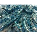 Stof met rondjes 660 blauw (100 cm)