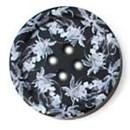 Knoop 18 mm bloem zwart-wit