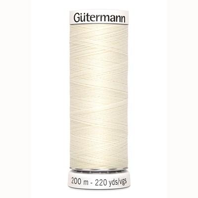 Gutermann 001 naaigaren off white
