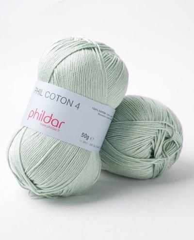 Phildar Phil Coton 4 Amande 0099 - groen oud